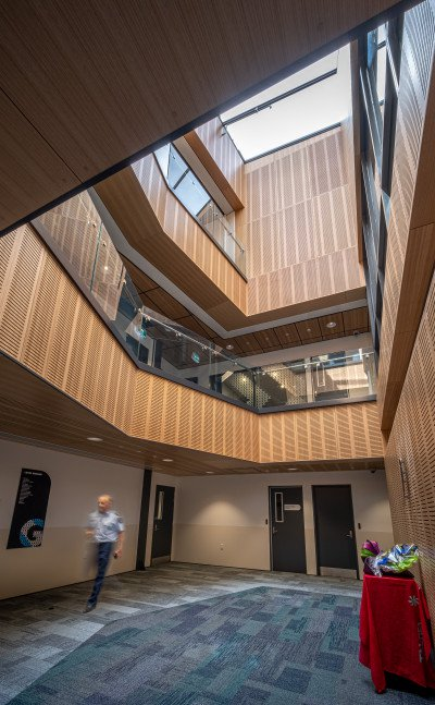 Interior design of Hastings Police Station