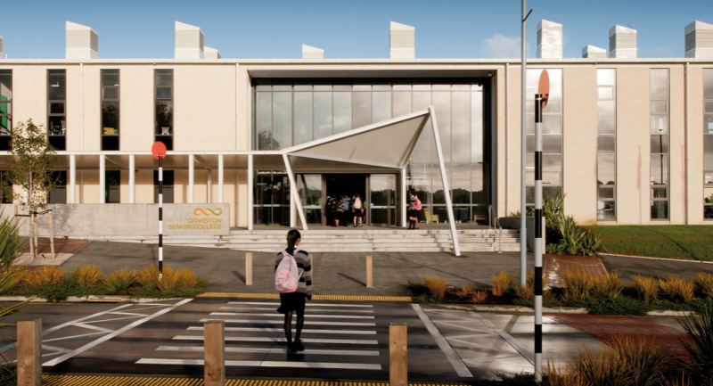 Ormiston College in Auckland where board chair Shireen was awarded a study grant